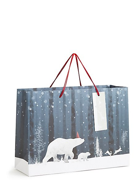 Arctic Animals Medium Christmas Gift Bag