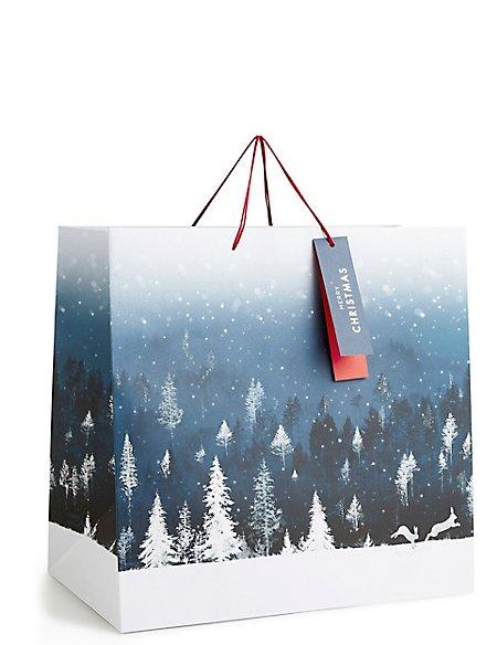Winter Night Extra Large Christmas Gift Bag