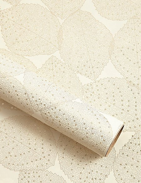Gold Leaf Christmas Wrapping Paper 3m