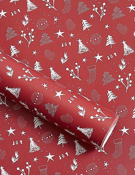 Icons Jumbo Christmas Wrapping Paper 14m