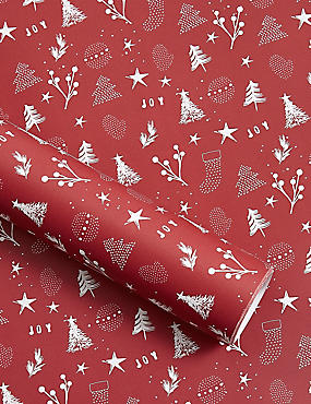 Icons Jumbo Christmas Wrapping Paper 14m