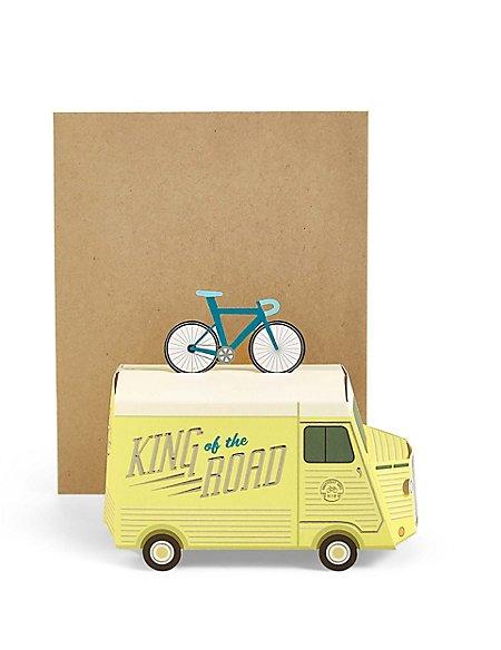 Pop-Up 3D Van Birthday Card