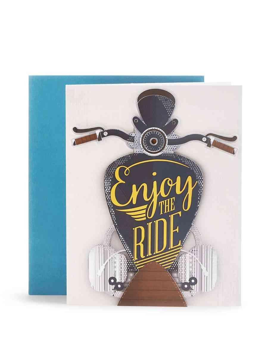 Moving Motorbike Birthday Card M S