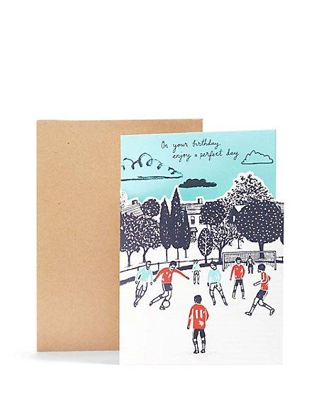 Perfect Day Football Scene Birthday Card