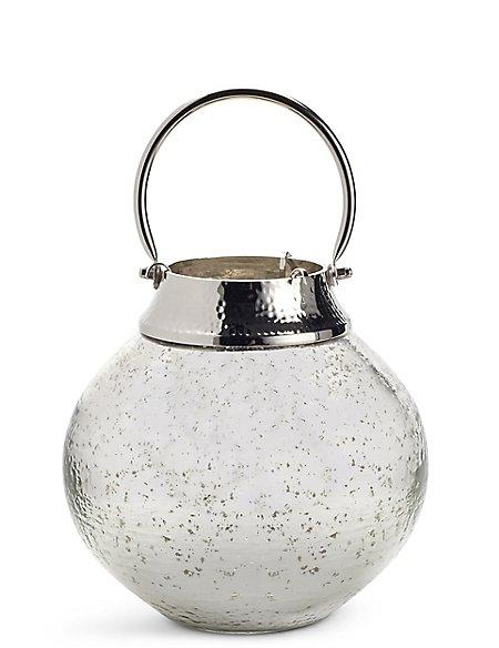 Mercury Large Glass & Metal Lantern