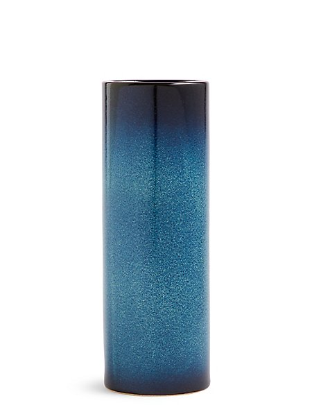 Blue Cylinder Glaze Vase