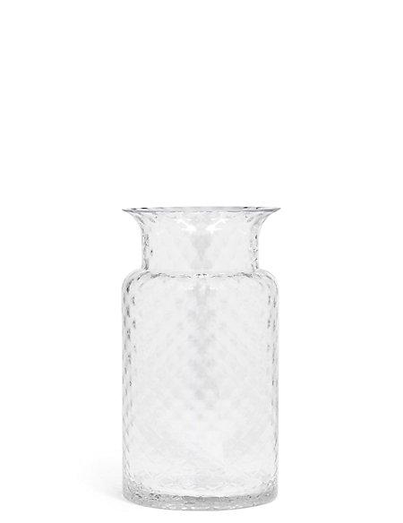 Medium Pressed Diamond Vase