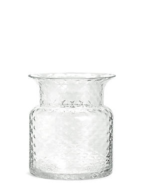 Short Pressed Diamond Vase