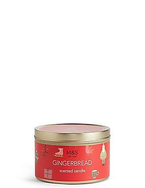 Gingerbread Tin Candle
