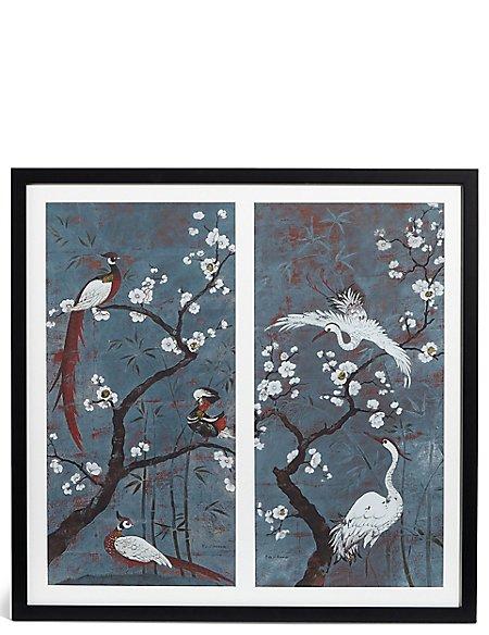 Oriental Birds Double Wall Art
