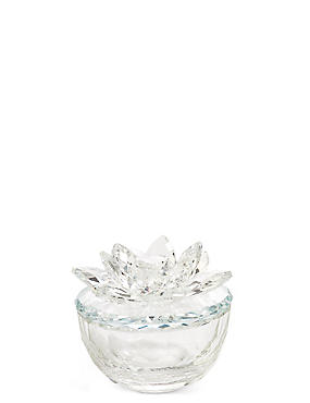 Cut Glass Flower Trinket Box