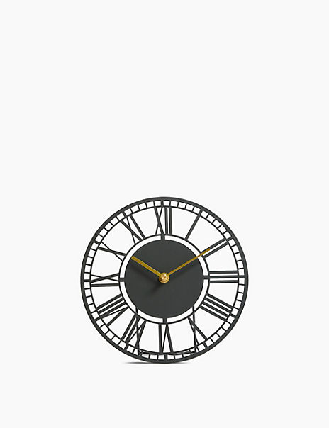 Skeleton Metal Mantle Clock