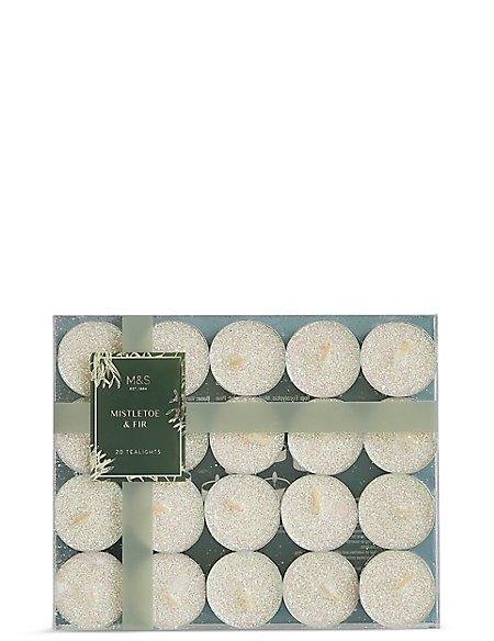 Mistletoe & Fir Tea Lights