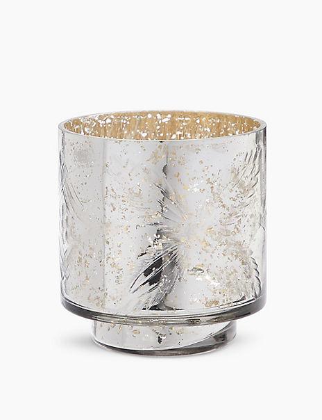 Etched Mercury Maxi Tea Light Holder