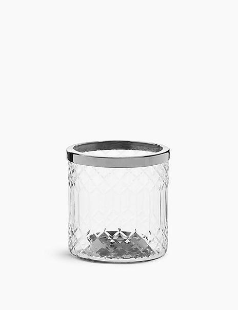 Cut Glass Tea Light Holder