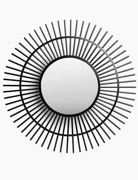Metal Sunburst Wall Mirror