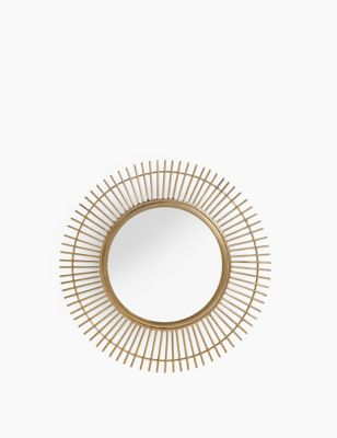 Round Mini Sunburst Metal Wall Mirror by Marks & Spencer
