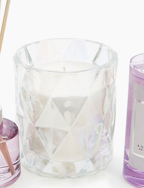 White Jasmine Faceted Lustre Candle