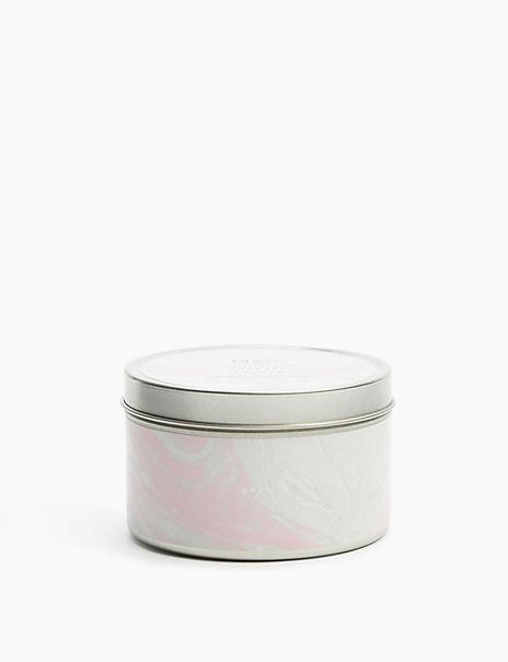 White Rhubarb Tin Candle
