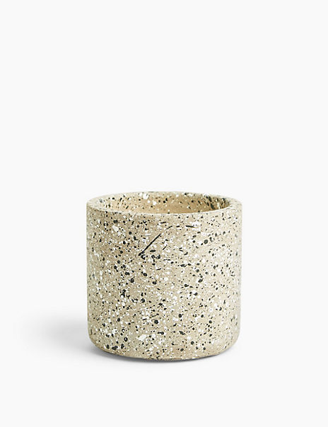 Ceramic Hand Finished Speckled Candle