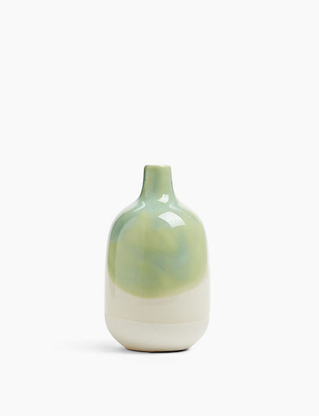 Medium Reactive Glazed Bottle Vase