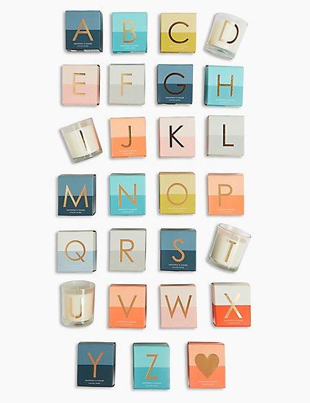 Alphabet Candle