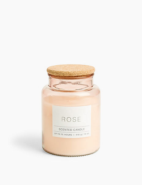 Large Rose Scented Jar Candle