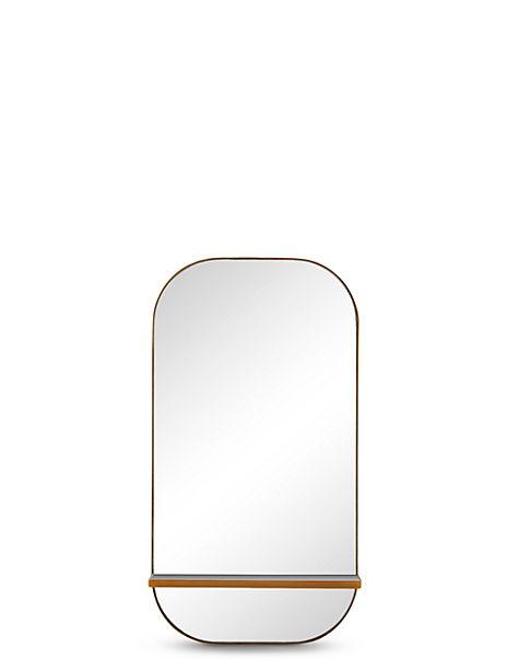 Milan Oblong Shelf Mirror