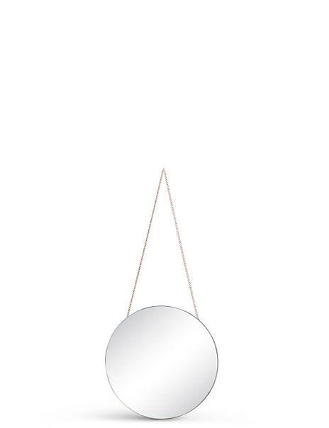 Small Hanging Round Mirror