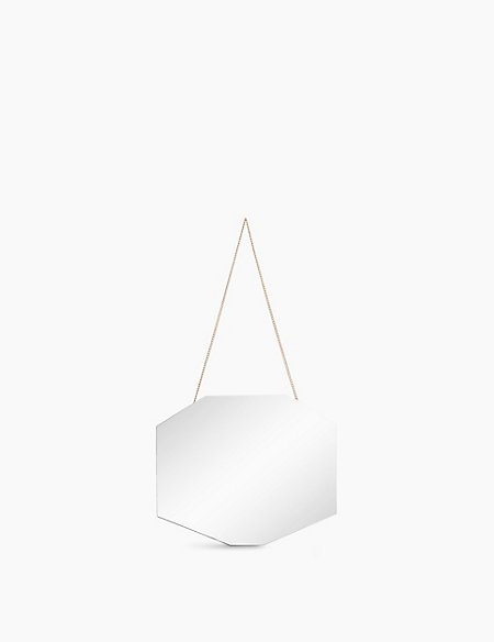 Small Hanging Octagonal Mirror
