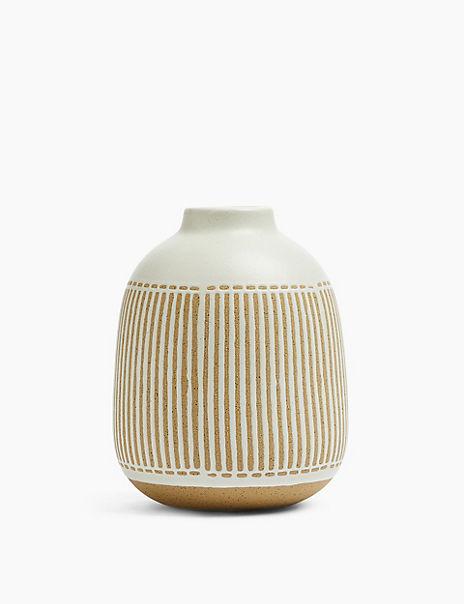 Medium Striped Vase