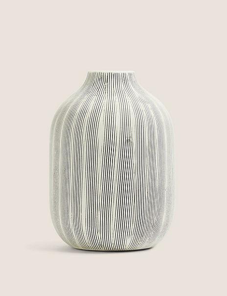 Medium Striped Linear Vase
