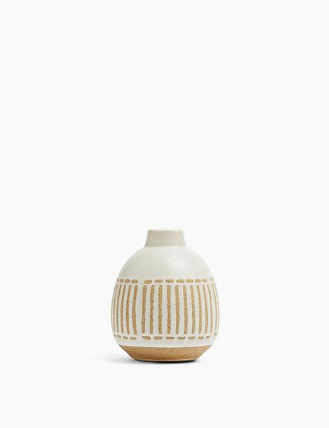 Medium Striped Bud Vase