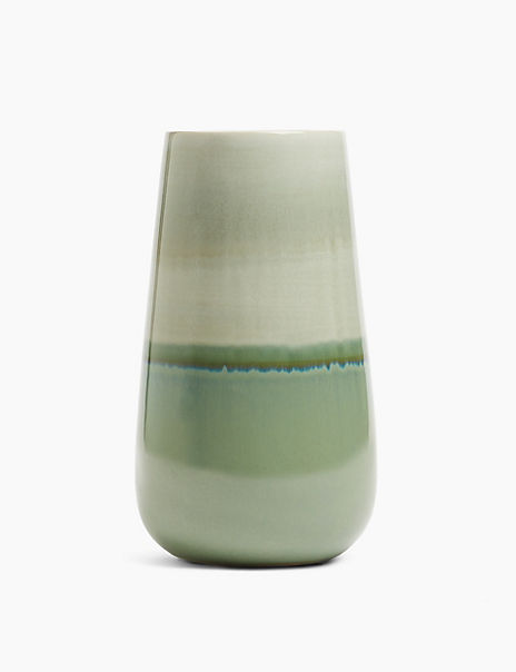 Tall Reactive Glazed Vase