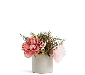 Rose & Hydrangea in Cylinder Pot
