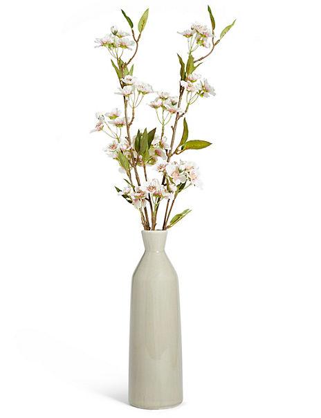 Cherry Blossom in Tall Ceramic