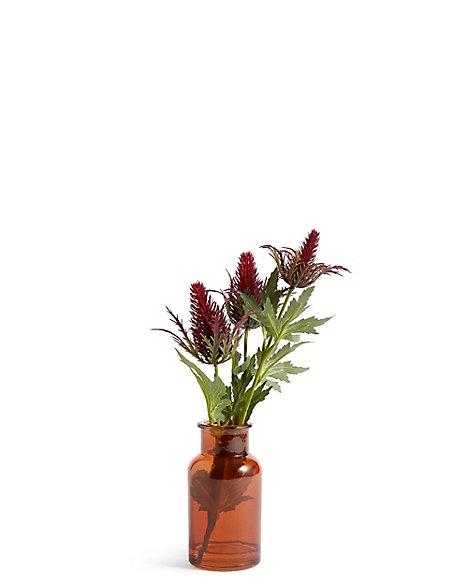 Thistles in Bottle Vase