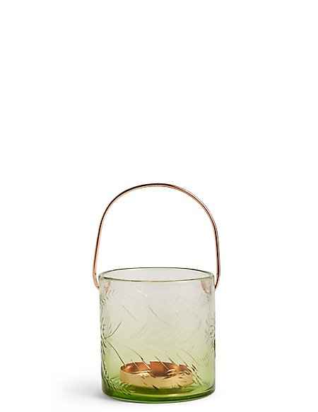 Small Etched Glass Lantern