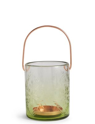 Large Etched Glass Lantern by Marks & Spencer