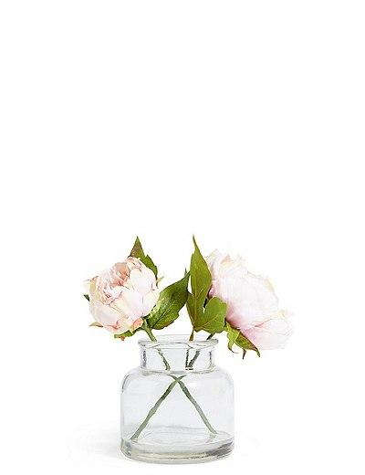 Peony Bunch In Vase Marks Spencer London