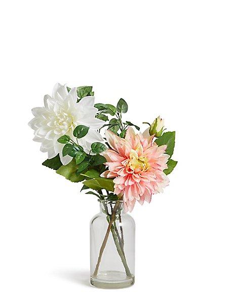 Dahlia Arrangement In Vase Ms