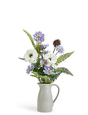 Thistle & Anemone Arrangement in Jug
