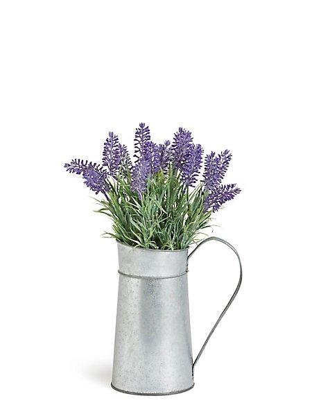 Lavender in Tin Jug