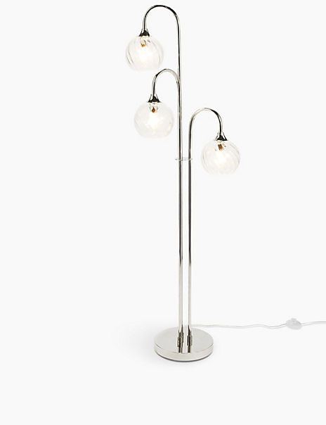Maggie Glass Shade Floor Lamp