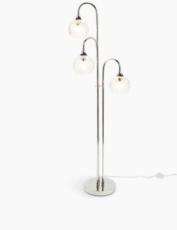 Maggie Glass Shade Floor Lamp M S
