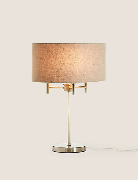 Fleur Classic Table Lamp With Grey Shade