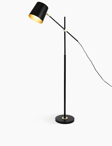 Emmett Black Floor Lamp Adjustable Arm