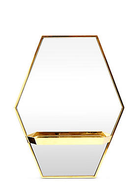 Hexagonal Shelf Mirror