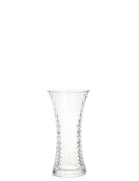 Flared Pressed Diamond Vase