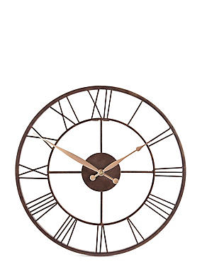 Skeleton Rustic Wall Clock